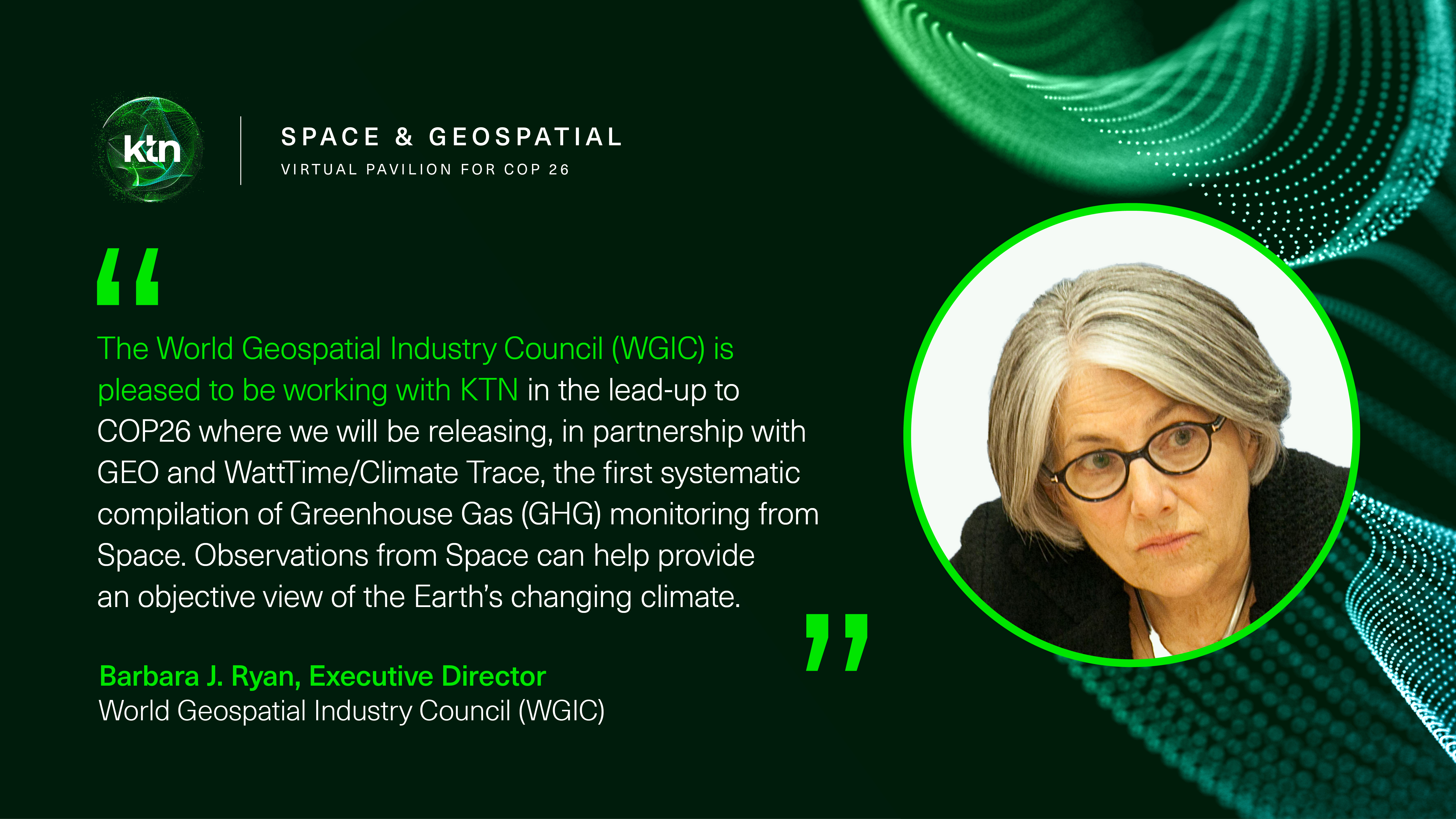 The Space & Geospatial Virtual Pavilion for COP26 - WGIC, GEO and WattTime will launch the GHG satellite report